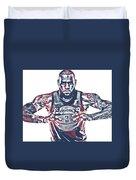 Lebron James Cleveland Cavaliers Pixel Art 54 Duvet Cover