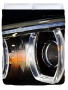 Led Headlights Duvet Cover