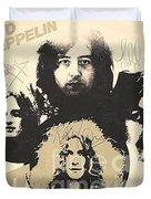 Led Zeppelin Autographed Album  Duvet Cover