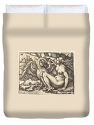 Leda And The Swan Duvet Cover