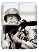 Lee Marvin, Vintage Actor Duvet Cover