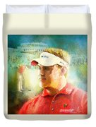 Lee Westwood Winning The Portugal Masters 2009 Duvet Cover