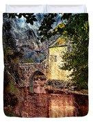 Leeds Castle Gatehouse And Moat Duvet Cover