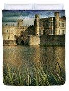 Leeds Castle In Kent Duvet Cover