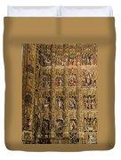 Left Half - The Golden Retablo Mayor - Cathedral Of Seville - Seville Spain Duvet Cover