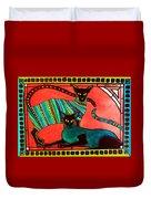 Legend Of The Siamese - Cat Art By Dora Hathazi Mendes Duvet Cover