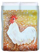 Leghorn Rooster Do The Funky Chicken Duvet Cover