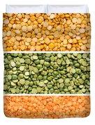 Legumes Triptych Duvet Cover