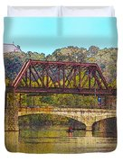 Lehigh River - Easton Pa Duvet Cover