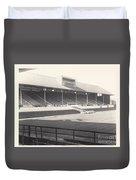 Leicester City - Filbert Street - Main Stand 1 - Bw - 1960s Duvet Cover