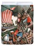 Leif Ericsson, The Viking Who Found America Duvet Cover