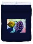 Lemon And Grapes Duvet Cover