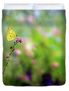 Lemon Butterfly In Summer Meadow  Duvet Cover