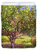 Lemon Grove Of Citrus Fruit Trees Duvet Cover