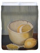 Lemon In A Bowl Duvet Cover