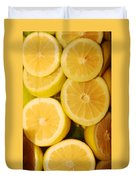 Lemon Still Life Duvet Cover