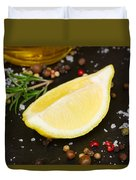 Lemon With Spices  Duvet Cover