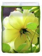 Lemon Yellow Rose Duvet Cover