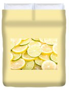 Lemons And Limes Abstract Duvet Cover