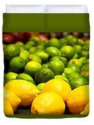 Lemons And Limes Duvet Cover