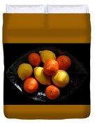 Lemons And Oranges On A Platter Duvet Cover