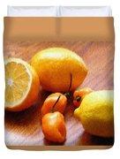 Lemons And Peppers Duvet Cover