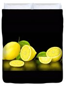 Lemons-black Duvet Cover