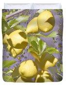 Lemons Purple Pastel Duvet Cover