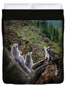 Lemur Family Duvet Cover