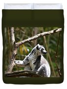 Lemur Love Duvet Cover