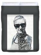 Lena Noble, Portrait Duvet Cover