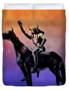Lenape Indian Chief Duvet Cover