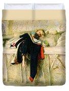 L'enfant Du Regiment Duvet Cover by Sir John Everett Millais