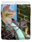 Lenten Rose After An April Shower Duvet Cover