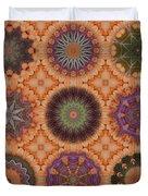 Lentil Purple Cauliflower Medallions Duvet Cover