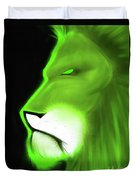 Leo Profile- Lime Duvet Cover