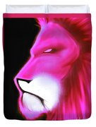 Leo Profile- Radiant Hot Pink Duvet Cover