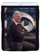 Leon Lederman, American Physicist Duvet Cover