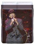 Leonard Cohen Autographed Duvet Cover