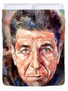 Leonard Cohen Painting Duvet Cover