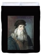 Leonardo Da Vinci - To License For Professional Use Visit Granger.com Duvet Cover