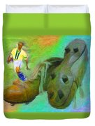 Leonidas And Soccer Shoes Duvet Cover