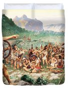 Leonidas Bids Farewell To Allies Duvet Cover