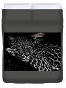 Leopard At Night Duvet Cover