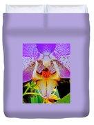Leopard Dragon Orchid Duvet Cover
