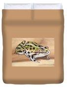 Leopard Frog No 1 Duvet Cover