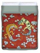 Leopard Geckos Duvet Cover