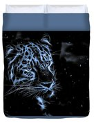 Leopard In The Darkness.  Duvet Cover