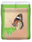 Leopard Lacewing Butterfly #2 V2 Duvet Cover