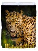 Leopard Nature Girl Duvet Cover